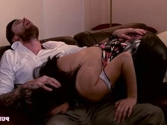 PURE XXX FILMS Banging a big tits mil and creaming her