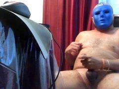 Blue Guy Cum