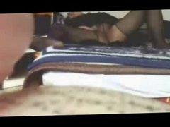 My mum fingering on bed caught by hidden cam