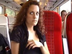 sexy wife exhib in train
