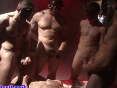 Orgy loving hunks cum squirting ritual