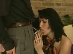 two girls with silk scarves fucked by a guy