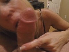 Virtual handjob blowjob for her fans