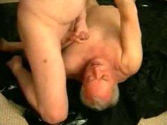 Grandpa get cum in his mouth