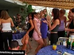 Party sluts dancing and fucking