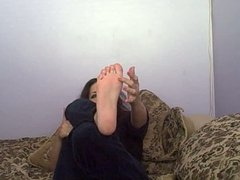 Tickle My BARE FEET and Jerk Off #3