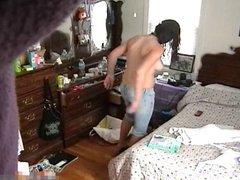 Teen Caught Naked In Her Bedroom