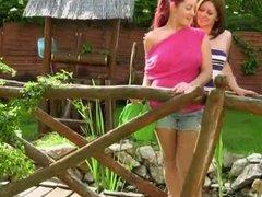Lesbians in the garden