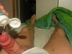 Diaper masturbation with cum