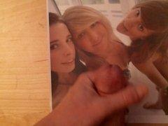 Cum tribute for three sexy girls