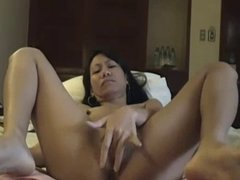 Solo Asian Masturbating until She Squirts