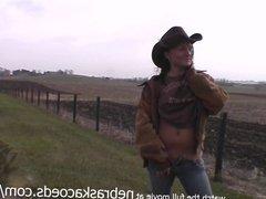 rancher cowgirl naked around the iowa farm