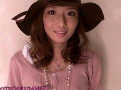 Pretty japanese teen at a messy bukkake