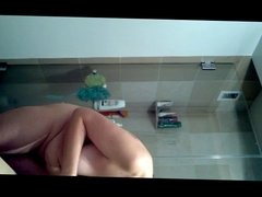 Shower Girl Texting and Deoderant