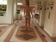 Alison - in Sexy Blue Bikini & Sporty moves