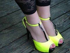 pantyhose and heels