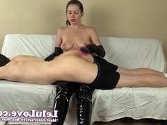 Lelu Love-Spanking Him In Boots And Gloves