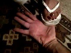 Long Toenails Hand Scratch