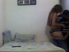 Cheating latina caught on camera