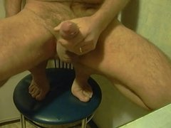 big cum on the kitchen chair