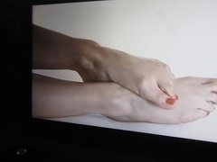 wanking to feet video