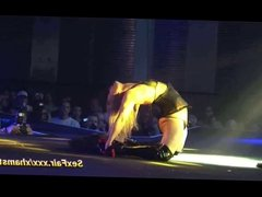 Spicy witch in erotic performance