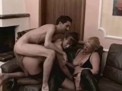 Dirty german matures anal 3some