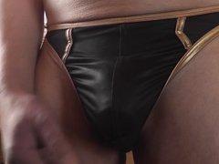 sexy stringtanga schwarz-gold