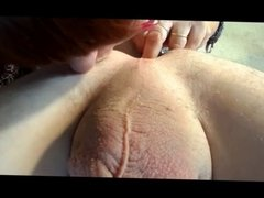 Postrate massage and ass lick