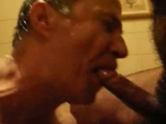 Sauna suck and fuck