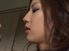 Japanese Office Lady domanating her Boss