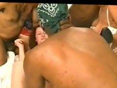 Interracial Orgy Party