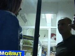 Hungarian milf Aniko sex in a grocery
