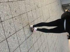 Leggings in der Stadt