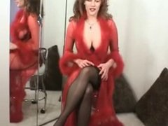 Classic Cougar Solo in Lingerie Stockings and Heels