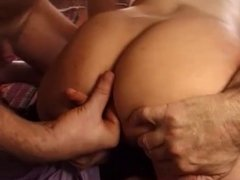 mature cockhold threesome with anal and facial