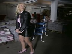 Blonde fuck in the  Warehouse