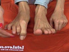 Lelu Love-Barefoot Natural Nails Feet Closeups