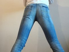 crossdresser in tight ripped skinny jeans