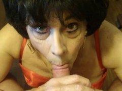 Crossdresser, Bobbi Carol, Drains her Lover