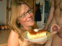 young german blonde sucks and ... eats