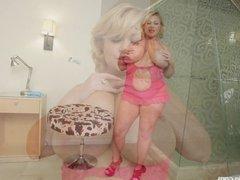 BBW Superstar Samantha 38G Drills her Tight Pussy with Toy
