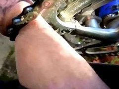My cock in bicycle fromnt chainring