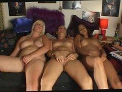 Three Girls Masturbate with Orgasms WF