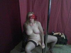Masked Redhead MILF enjoys her favorite toy