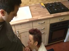 mature housewife hardly fucked in the kitchen