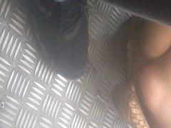 Feet Of A Girl On Bus