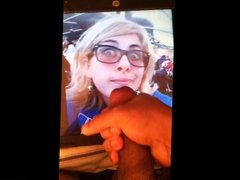 My friend glasses cum tribute