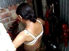 sexy bhabi dressing up after bath