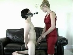 Mistress gives slave a challenge.